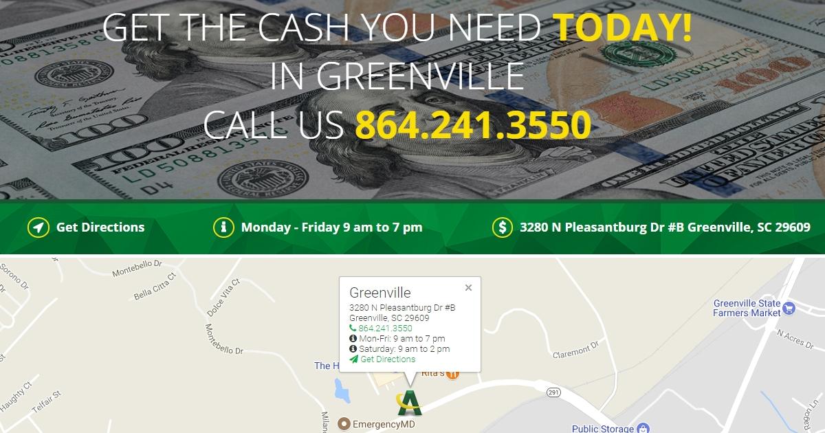 Greenville South Carolina Americash Loans