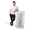 Nick Viall for Brilliant Bed but smaller