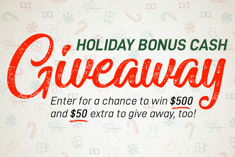 AmeriCash Loans Holiday Bonus Cash Giveaway