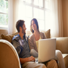Couple Applying For A Loan Online Small