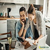 Couple Reviewing the finances small