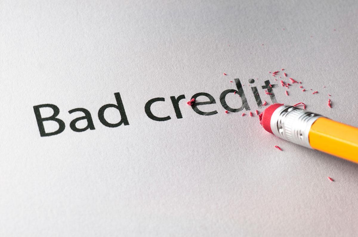 Pencil erasing bad credit