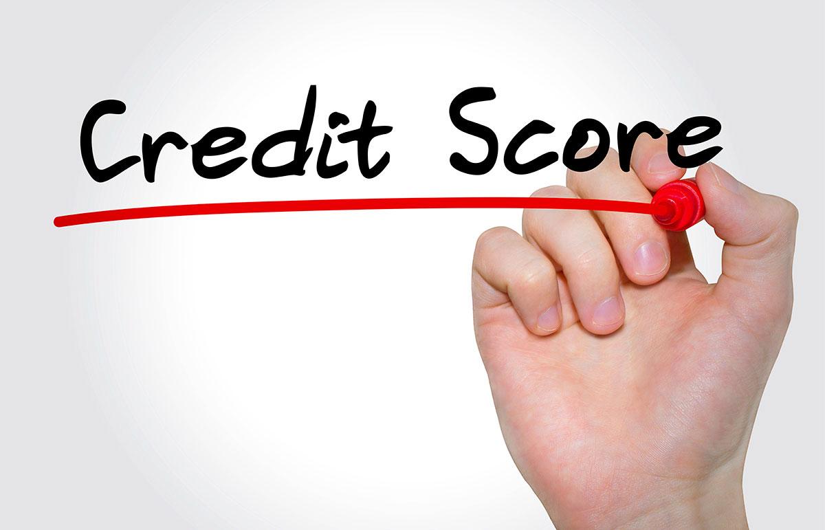 Credit score hand written