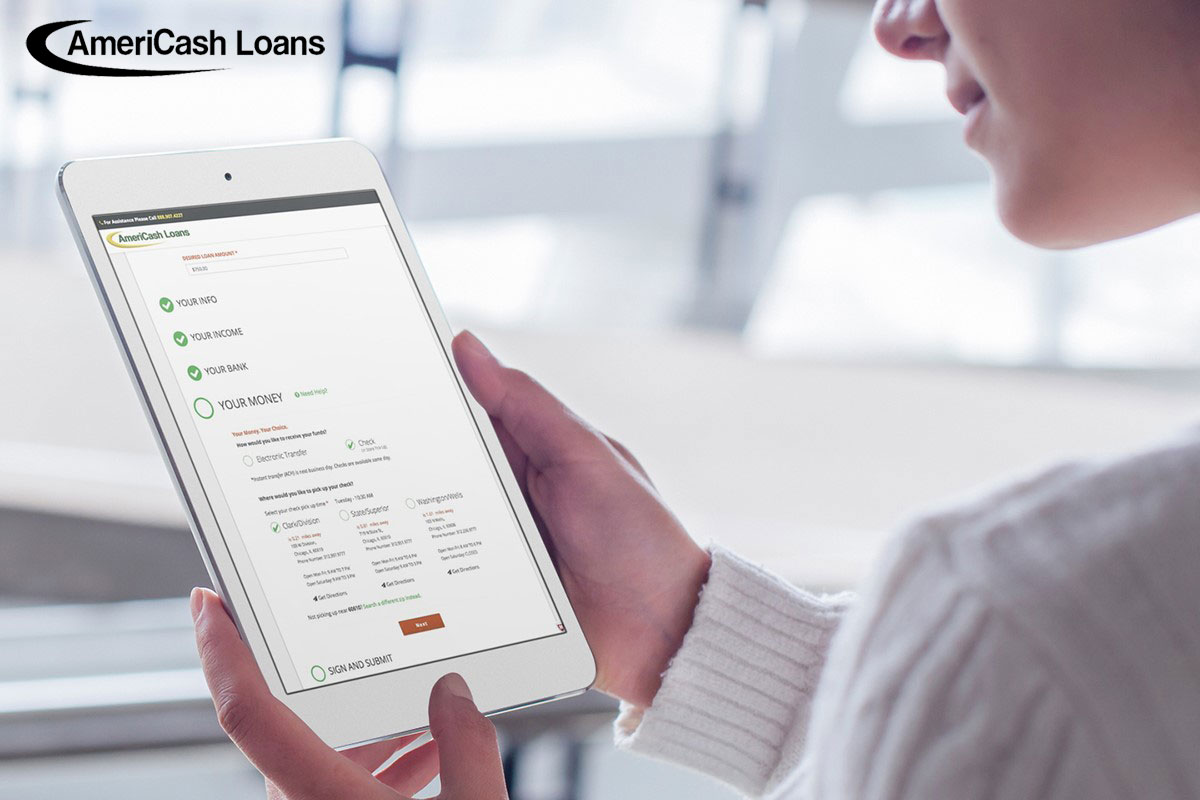 AmeriCash Loans Reveals New Application Features: Electronic Transfer and Choose Your Location